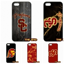 USC Trojans logo College Football Mobile Phone Case Cover For iPhone 4 4S 5 5C SE 6 6S 7 Plus Galaxy J5 A5 A3 S5 S7 S6 Edge