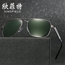 Direct deal Fashion concise Men Polarized sunglasses Alloy frames glasses UV400 high definition Blocking glare lens Eyeglasses
