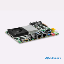 Cheapest Wintel nano mainboard fanless itx board 12V Linux computer Dual RJ45 USB 3.0 office pc(China)