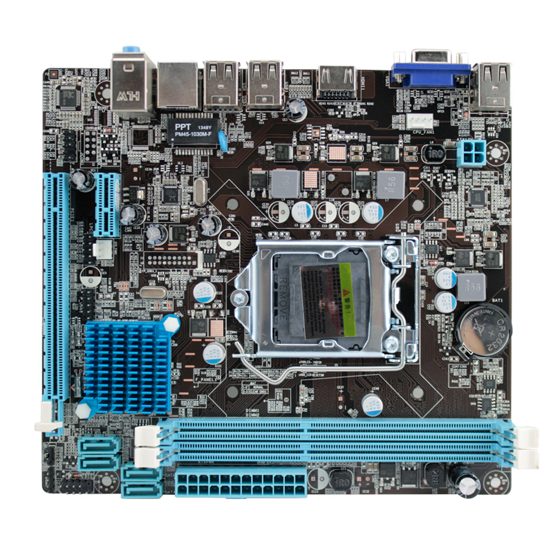 P8H61 motherboard H61 motherboard new support G2030 I3 G1620 and other with HDMI interface<br><br>Aliexpress
