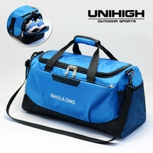 Nylon Waterproof Gym Bag Independent Shoes Pocket Handbag Multifunction Single Shoulder Portable Package Men Training Sport Bags(China)