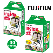 Fujifilm Instax Mini 8 White Film 30 Sheets For Fuji Instant Photo Paper Camera Mini 7s 8 25 25i 50s 90 Neo 300 Share SP-1 SP-2(Hong Kong)
