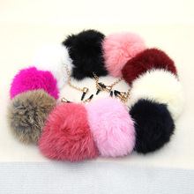 Colorful Rex Rabbit Fur Ball Design Fashion style 3.5mm Mobile Phone Ear Cap Dust Plug For Iphone Samsung dust plug