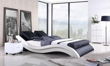 MYBESTFURN Sofa Bed, 2013 New Modern Design, Top Grain Leather cover, King / Queen Size Soft Bed, Modern Leather Soft Bed A021