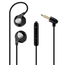 2017 Hot Sale Stereo Earphone Headphones Noise Canceling Headset with Microphone for phone iPhone Xiaomi MP3 Sport Headphones(China)