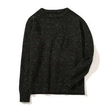 Plus Size 5XL Men Sweater Dot Designs Black Knitted Woolen Pullovers Male Autumn Winter Long Sleeve O-neck Slim Fit Sweater Boys