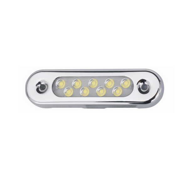 Malibu Surface Mount 10-30V Non-Polarized Multi-Voltage 6 Marine Yachting Underwater Lights for Boats<br>