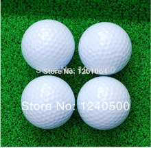 Free shipping 2 layer golf clubs brand new golf balls practice match ball distant ball 10pcs/bag(China)