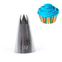 1M Stainless Steel Piping Icing Nozzle for Cream , Pastry Accessories Cake Cream Decoration Pastry Baking Tools for Cake Fondant(China)