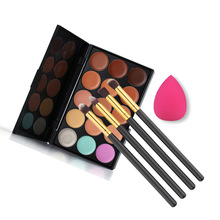 wholesale highly recommend 15 colors makeup beauty kit Camouflage Make-up Set Concealer Palette 20sets/lot free EMS/DHL shipping