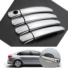 1 Set CHROME DOOR HANDLE COVER TRIM FOR PEUGEOT 207 308 407 CITROEN C4 C6 C4 PICASSO(China)