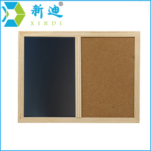 XINDI New 2017 Wooden Frame 60*40cm Cork Board Magnetic BlackBoard Combination Message Boards Office Supplier Chalkboard
