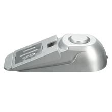 NEW 100dB Door Stopper Alarm Floor Rubber Warning Alarm System Wedge Shape Hinged Door Home Security