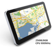 "Hot-sale 7"" Touch Screen Car GPS Navigation CPU 800M+ 256M/8GB + FM Transmitter+Free latest Maps"