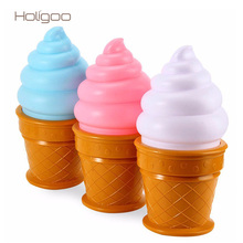 Novelty Ice Cream Cone Bedroom Attractive LED Atmosphere Night Light For Kids Gift Children Book Reading Desk Lamp Bedside
