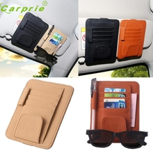 Hot hothot Car Sun Visor Glasses Sunglasses Ticket Receipt Card Clip Storage Holder June6 car-styling se16 dropshipping