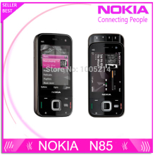 Refurbished original unlocked Nokia N85 3G network GSM WIFI GPS 5MP camera mobile phone free shipping(China)