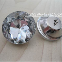 500PCS/LOT 25 MM REDBUD CRYSTAL BUTTONS FOR SOFA INDUSTRY OR OTHER DECORATION FILEDS(China)