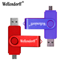 Android Phone OTG USB Flash Drives USB 2.0 Flash Disk 4G 8G 16G 32G 64G USB Flash Pen Drive Pendrives Memory Minision