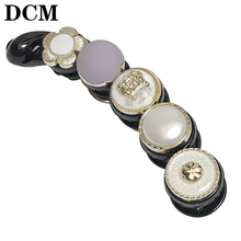 DCM Acrylic banana clips 10-11CM purple gold dot Mosaic women's hair claws Hairwear brand women Hair Jewellery girls hairpins(China)