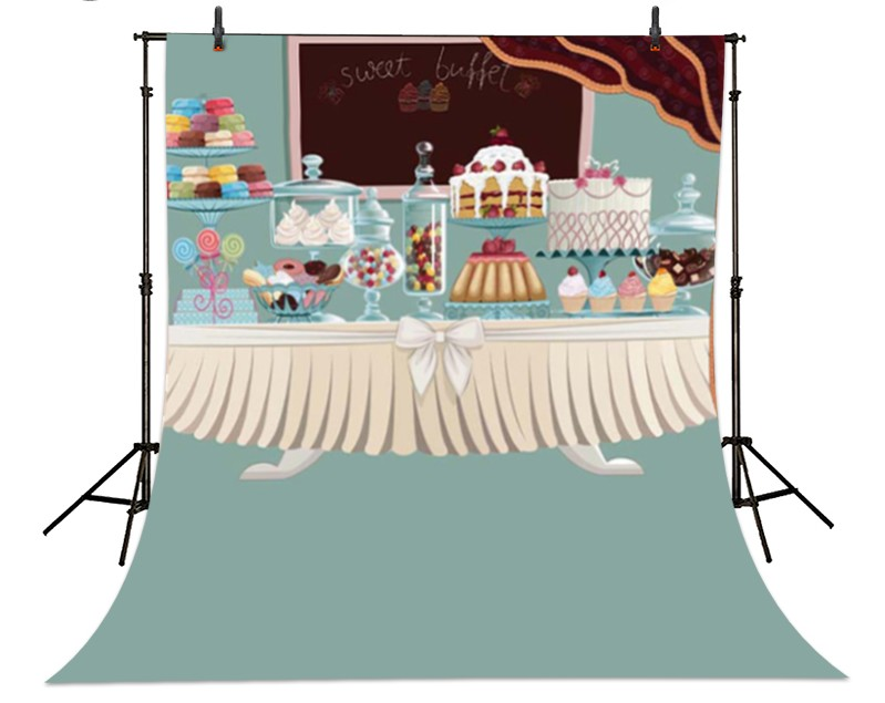 Princess Cakes Chocolate Ice Cream Photography Backgrounds  High-grade Vinyl cloth Computer printed newborns backdrops<br><br>Aliexpress