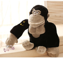 Gift for baby 1pc 45cm Kong Kim chimpanzee orangutan monkey  hero pacify plush hold doll novelty children kids boy stuffed toy