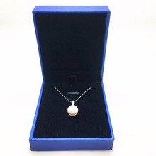 hot selling simple design 10mm round simulated-pearl pendant Necklace with crystals from Swarovski good for Valentines Day gift(China)