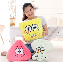 SpongeBob Plush Toys Pillow Plush Kids Cartoon Movie Characters Christmas Birthday Gift Toys Stuffed & Plush Animals