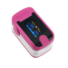 5 PC Finger Pulse Oximeter With Audio Alarm & Pulse Sound  Finger Clip SPO2 PR Small OLED Display Blood Oxygen Meter Rose Red