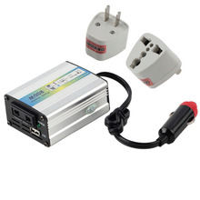 1pcs 12V DC to AC 220V Car Auto Power Inverter Converter Adapter Adaptor 200W USB Hot Top Sale