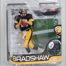 Animation Garage Kid Collection Kids Toys: McFarlane Action Figure PVC Dolls NFL Football Player Terry Bradshaw Model Best Gifts