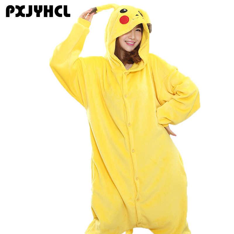 Хэллоуин Взрослый Пикачу косплей Кигуруми костюм для вечерние Вечеринка  аниме Единорог Покемон комбинезон комбинезоны пижамы 1f8d551e25fd1