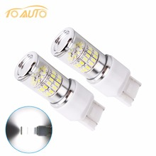2 pcs Auto light bulb w21 5w 7443 7440 t20 led bulbs 48 smd 3014 daytime running lights Pure White 6000K Car Reverse brake lamps(China)