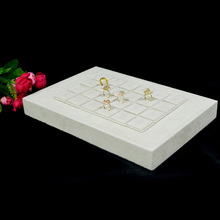 Wholesale Beige Velvet Jewelry Fashion necklace Display Show Case Organizer Tray Ring Storage Box Necklace display board(China)