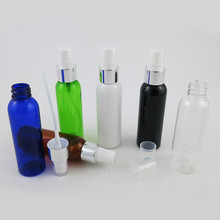 50 x 60ml Green Clear Amber Blue Black PET Plastic Bottle Atomizer Perfume Mist Spray 2oz Pet Cosmetic Parfum Sprayer Bottle(China)