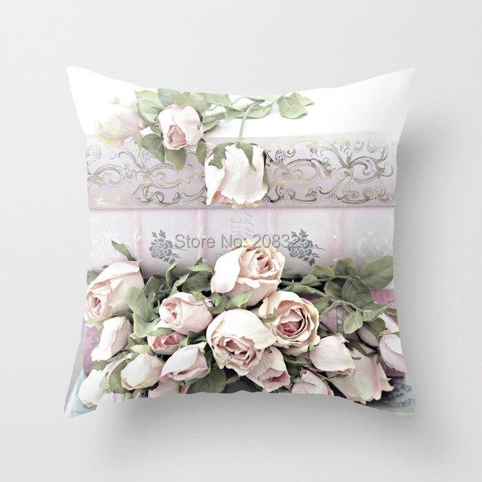 rose flower pillow