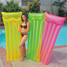 2017 New Inflatable Swimming Float Bed Fluorescent Pool Float for Adult Tube Raft Kid Swimming Ring Summer Water Toy Hot Sale
