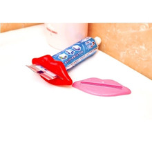 6 pcs/lot Lip Shape Squeezing Toothpaste Device Lovely Bathroom Set Dispenser Tooth Paste Squeezer Tube Partner Holder