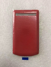 left 1pc in Stock!! 100% Brand New Original Quality RED Genuine Leather Battery Cover Replacement for BlackBerry Porsche 9983