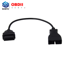 2017 High Quality For G-M 12pin to 16pin connector Adapter 12 Pin to 16 Pin OBD1 OBD2 Diagnostic extension Cable(China)