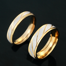 1 piece Luxury Jewelry Stainless Steel Couples Ring Lovers Wedding Promise Ring for Men Women Wedding Gift