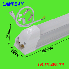 T5 integrated tube 3ft 900mm milky cover clear cover  14W surface mounted lamp comes with accessory easy install 85-277V