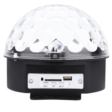 KTV Projector Crystal Magic Ball Lights 10 - 25W 6 LEDs RGB Stage Light Effect Professional Party Disco DJ With Remote Control