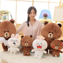 Classic cartoon Brown bear&cony plush toy Creative boutique doll High quality and low price 40/50cm(China)