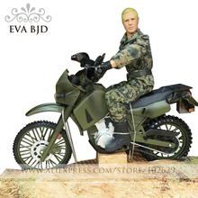1/6 BJD Doll Soldier dolls Action Figure Justice red division Biker Army Model Toys for children with Motor DB016-02