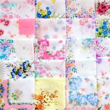 10 шт. платок Античная Цветочные вышитые шарф платок мятный(China)