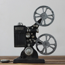 Creative Vintage Movie Projector Model Camera Photography Props Resin Craft Bar Coffee Net Bar Home Decoration Accessories Craft(China)