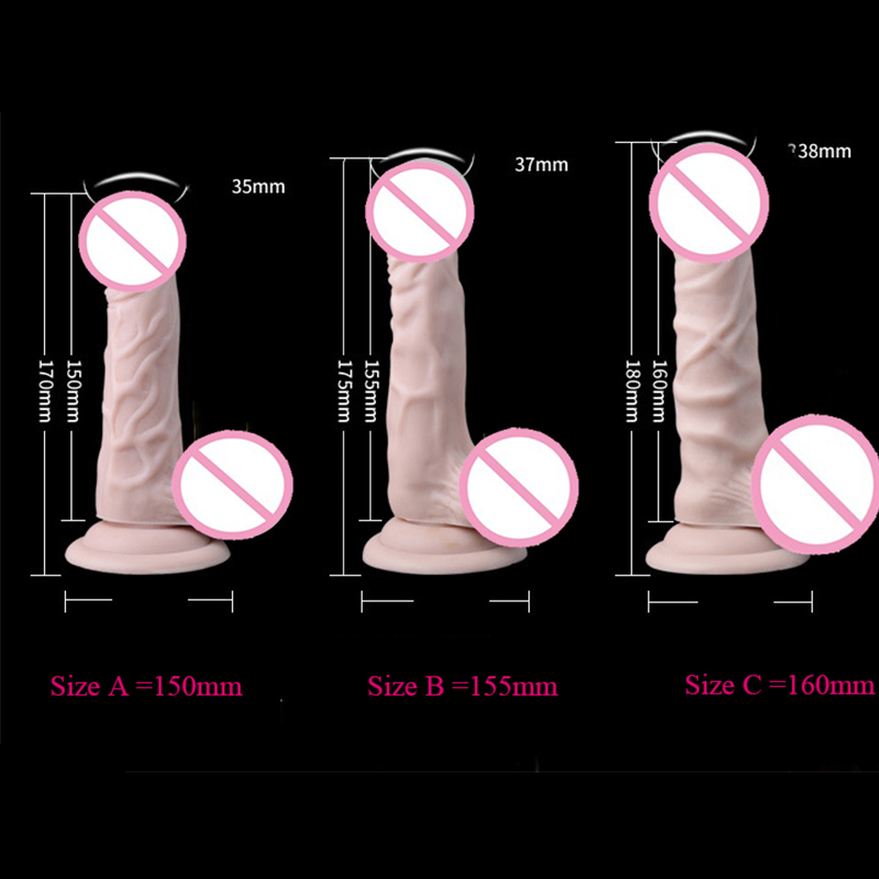 Newest Realistic Big Dildo Silicone Penis Dick Strong Suction Cup Huge Dildos Cock Adult Sex Products Sex Toys Women