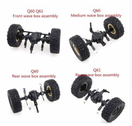 4pcs Track Wheels Spare Parts For 1//16 WPL B14 C24 FY001 Military Truck RC Car