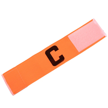 Promotional Football Soccer Flexible Sports Adjustable Player Bands Fluorescent Captain Armband New(China)